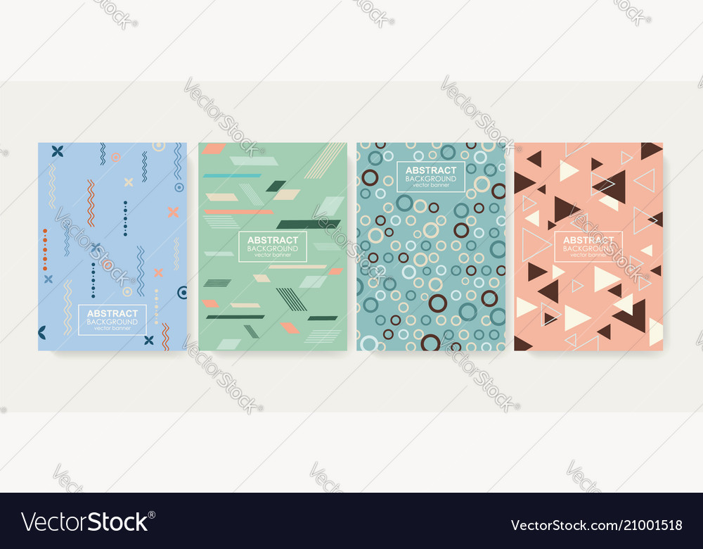 Retro design templates for a4 covers banners