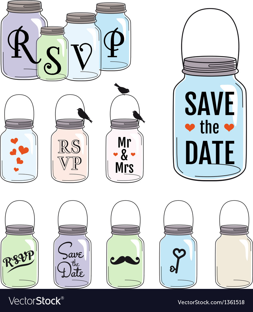 Save the date jar designs