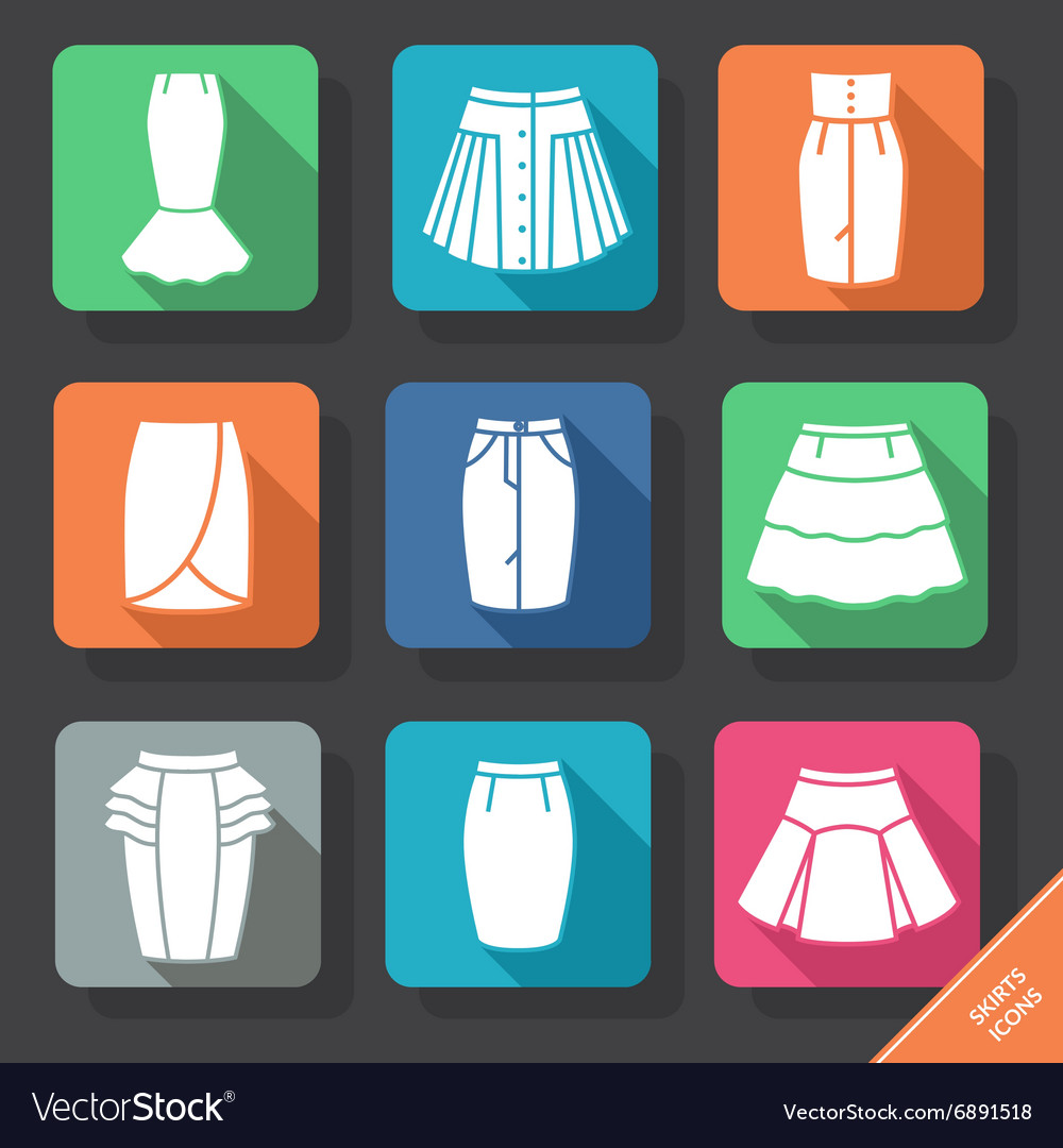 Set with skirts icons