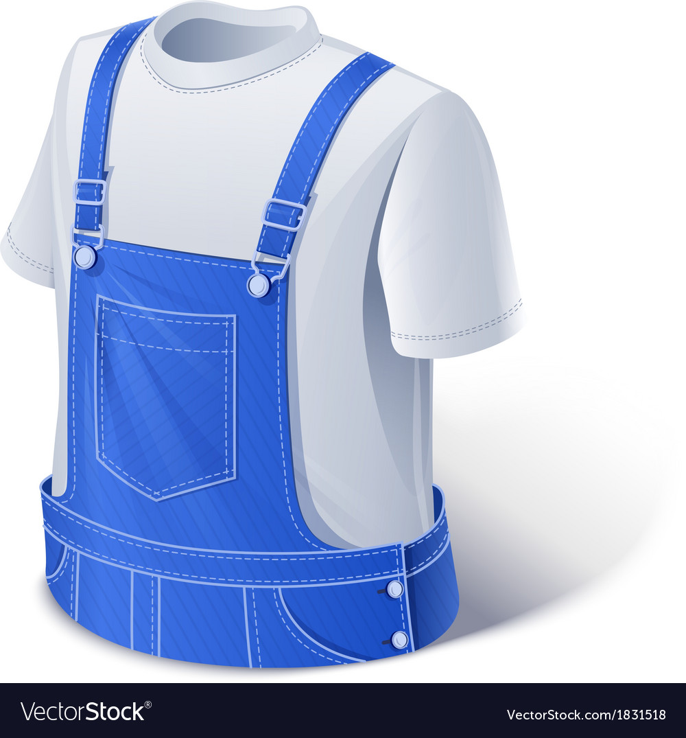 Shirt and overalls Workers vector image