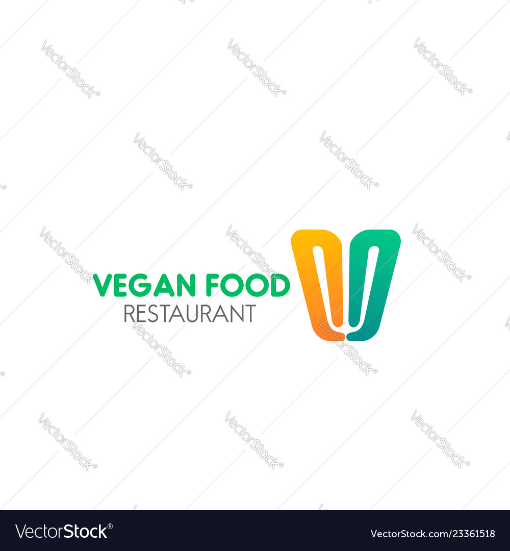 Sign for vegan food cafe