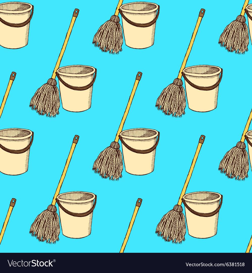 Sketch mop and bucket