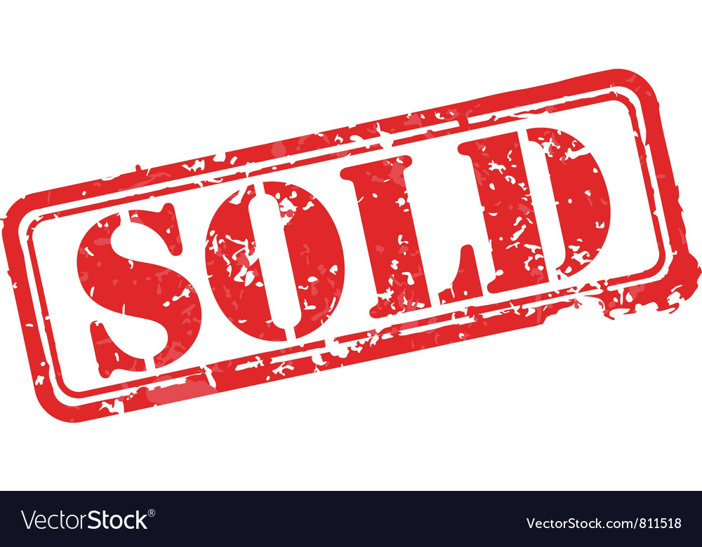Sold rubber stamp vector image