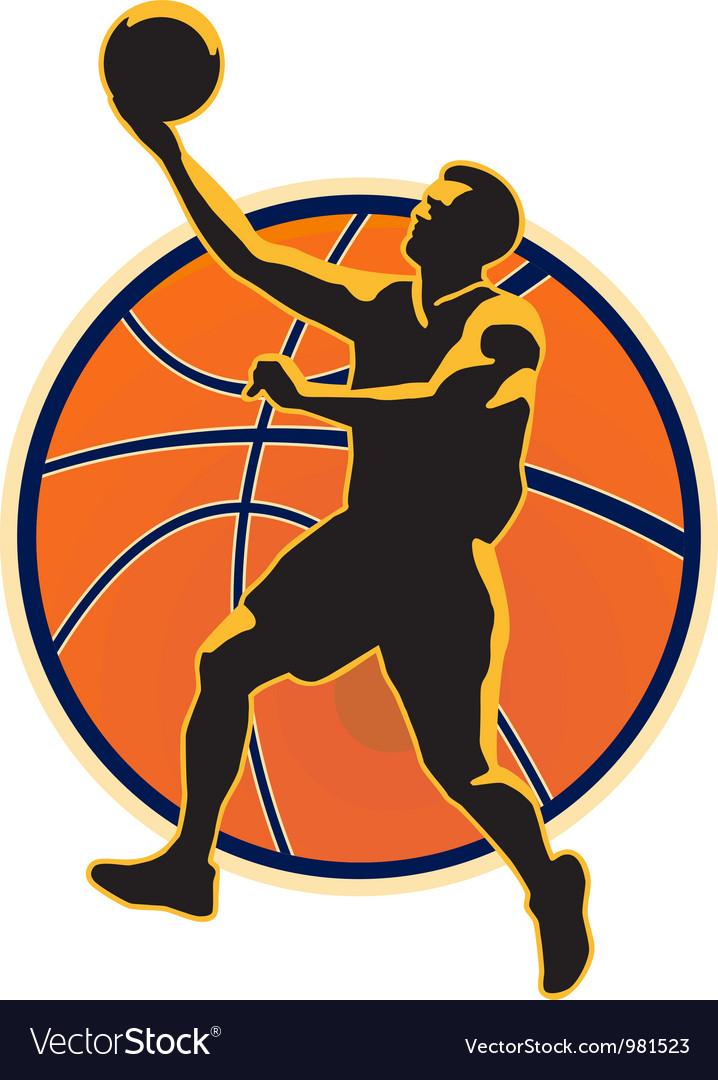 Basketball Player Lay Up Ball vector image