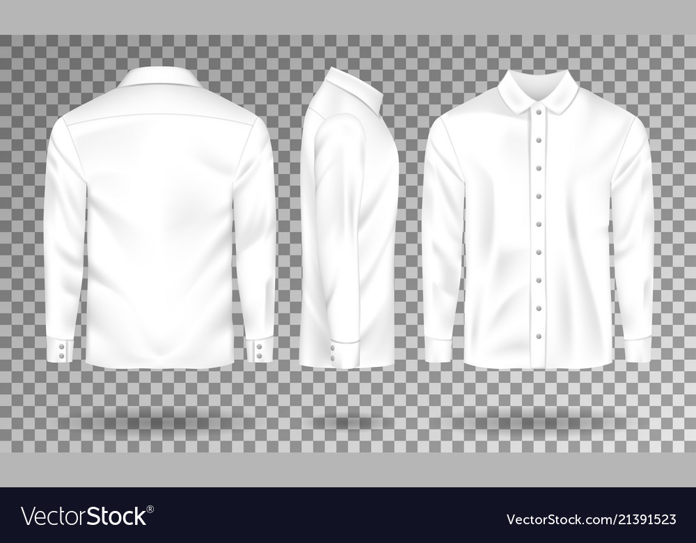Blank male shirt template realistic men s shirt