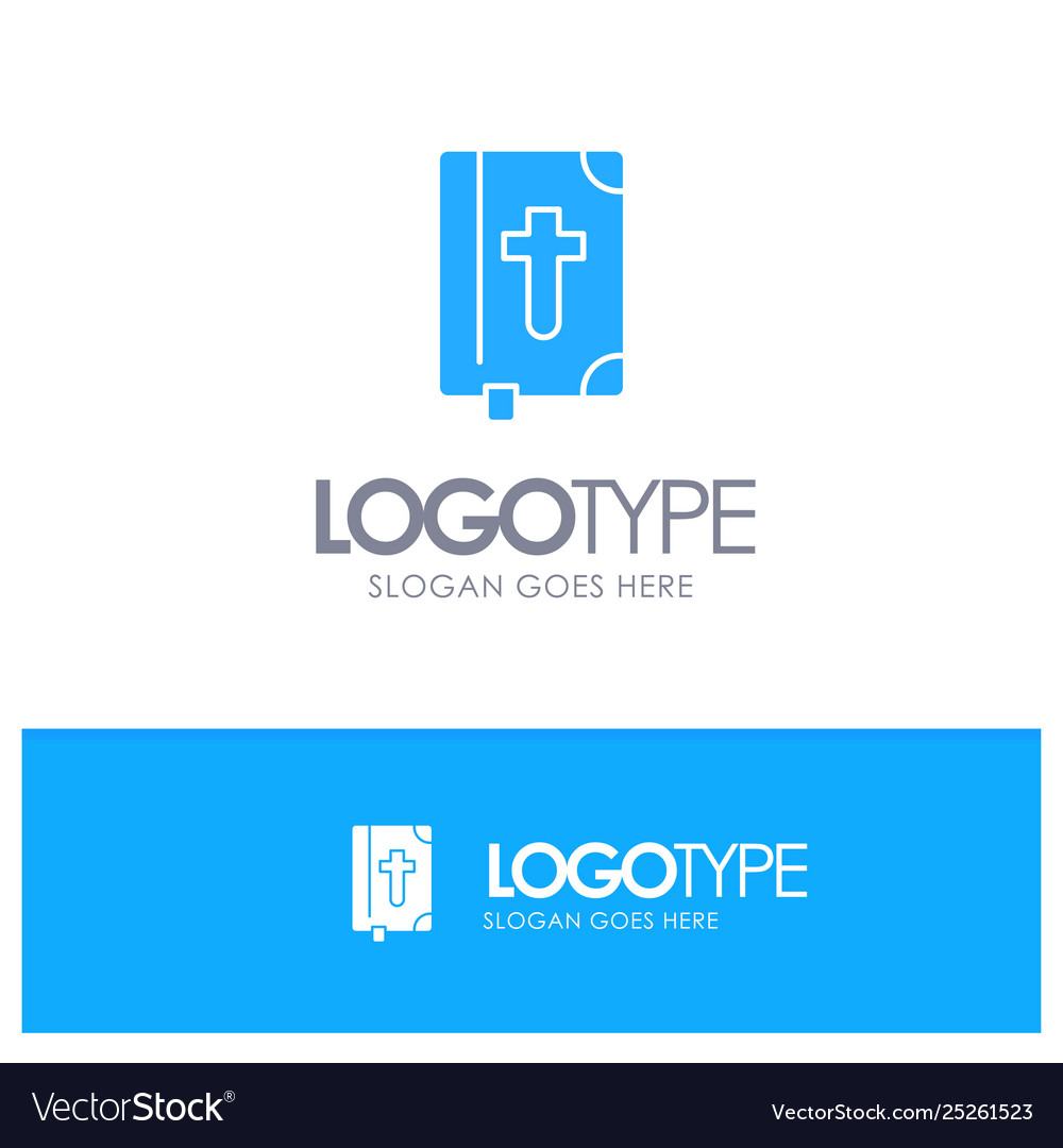 Book bible easter holiday blue solid logo with