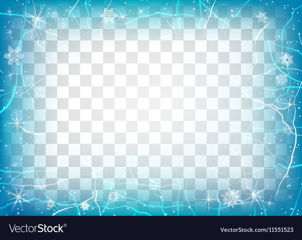 frame of ice on transparent background winter vector image