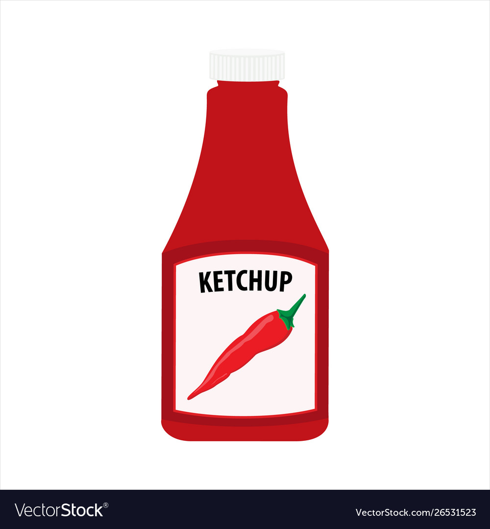 Ketchup bottle isolated on white background