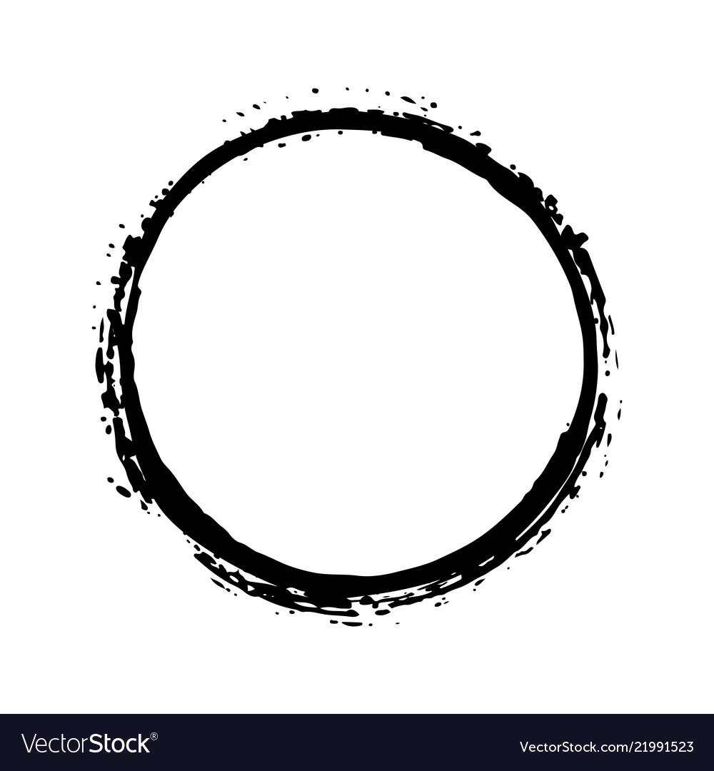 Round frame grunge textured hand drawn element