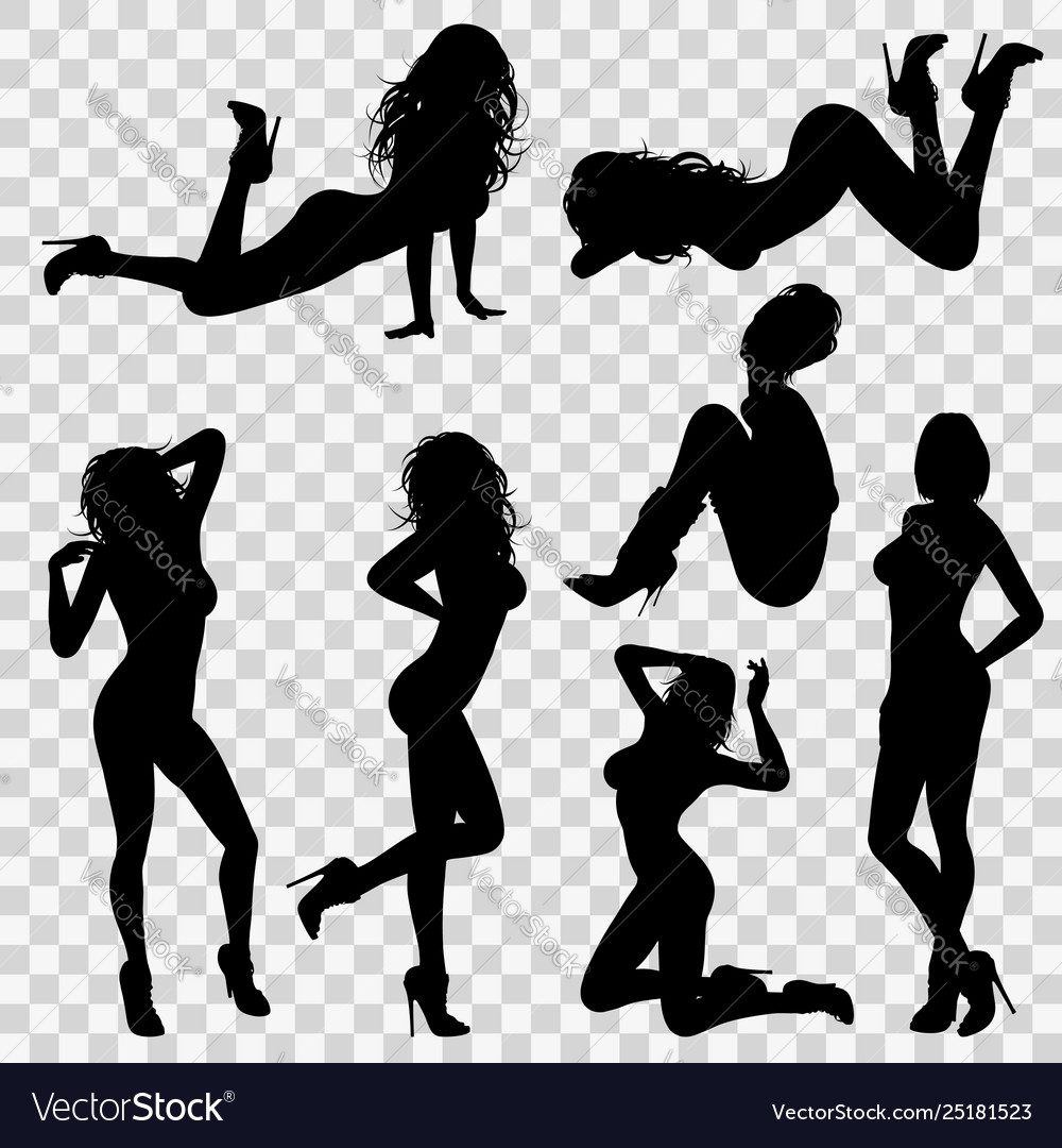 Silhouettes sexy girl