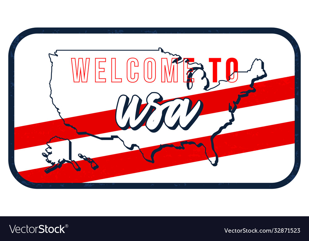 Welcome to usa vintage rusty metal sign map