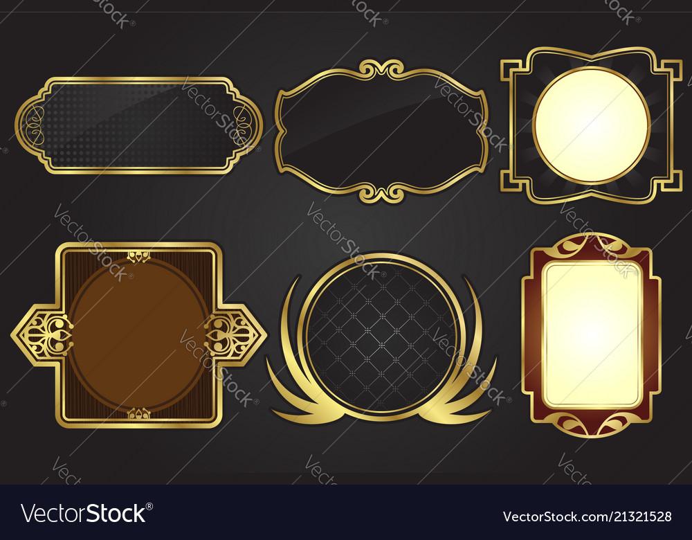 Black and gold frames