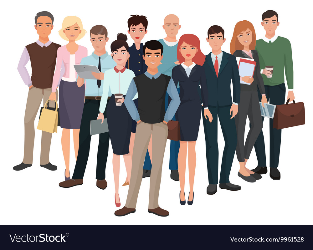 Group of men and women Business creative team