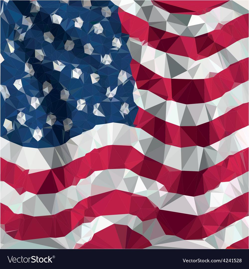 e9702b108618 Low polygon of USA American flaG Royalty Free Vector Image