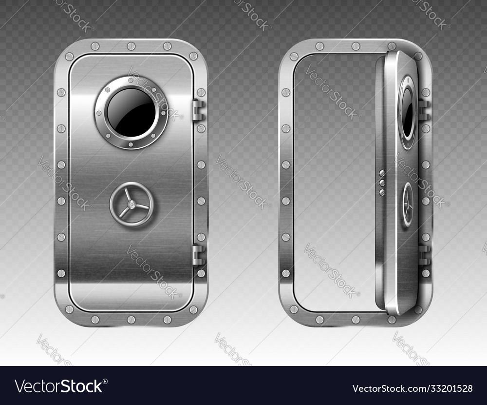 Metal Door With Porthole Submarine Or Bunker Vector Image Hd wallpaper metal door hatch round