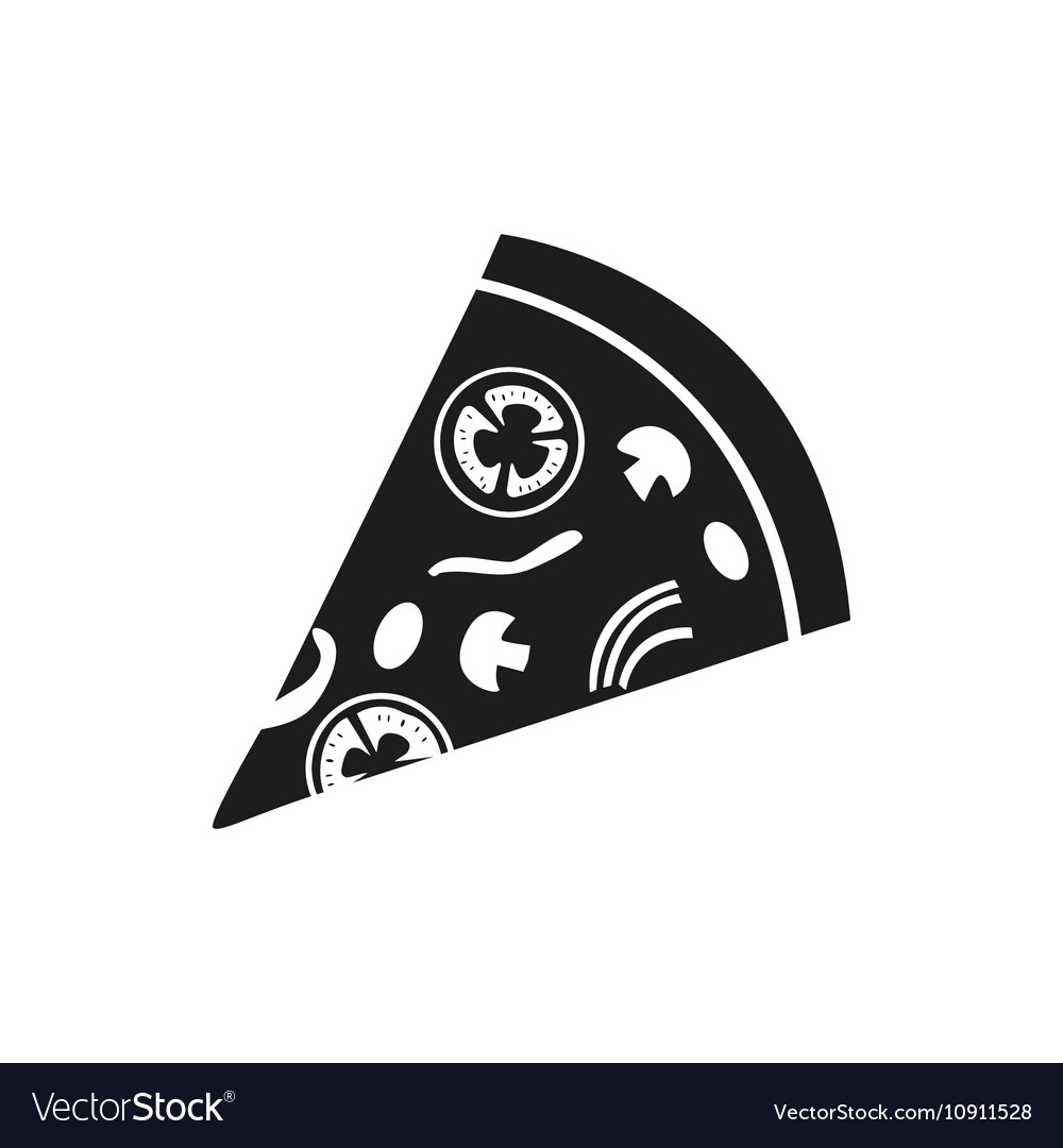 Pizza simple black icon on white background