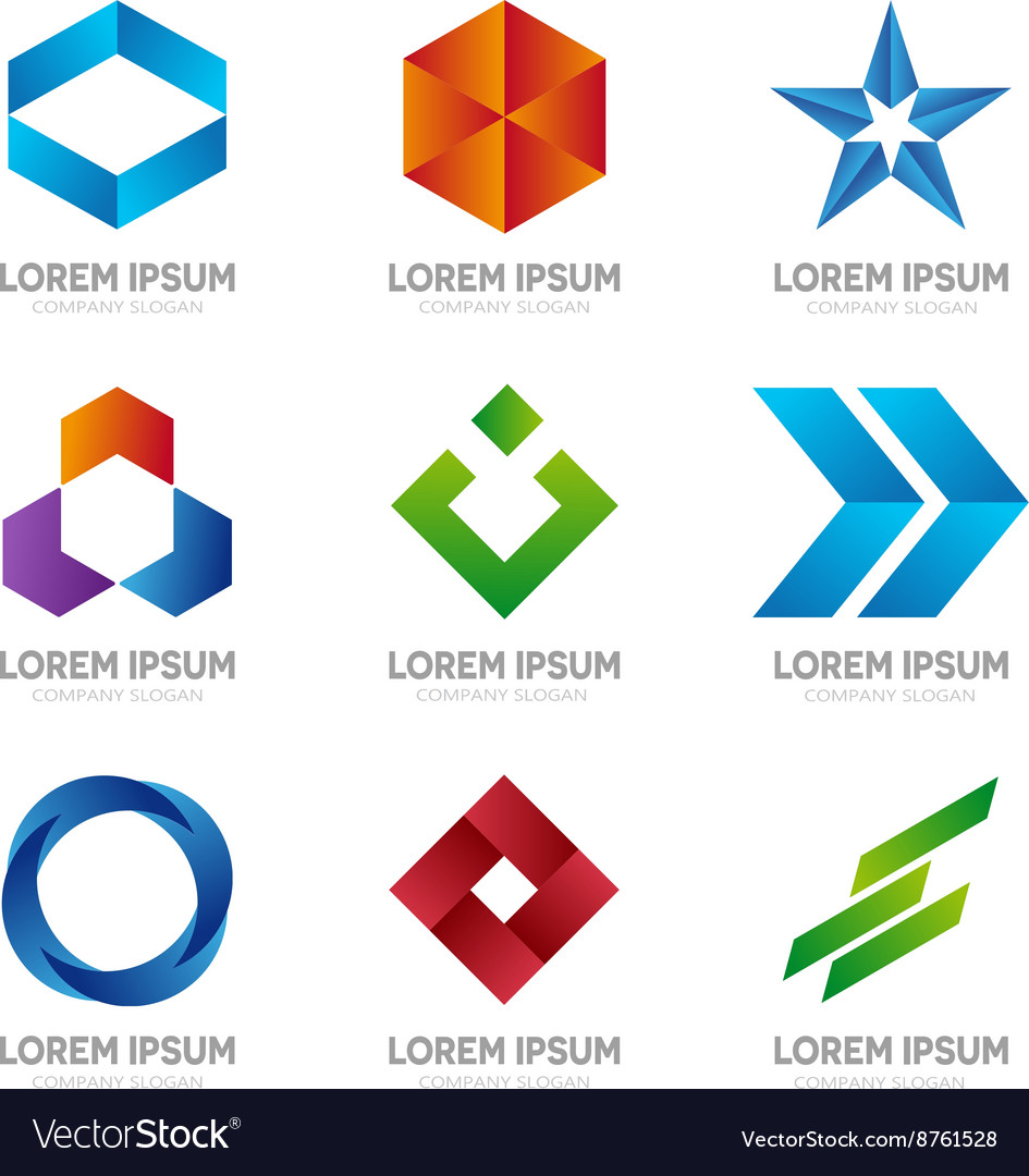 Set of abstract logo design template Abstract