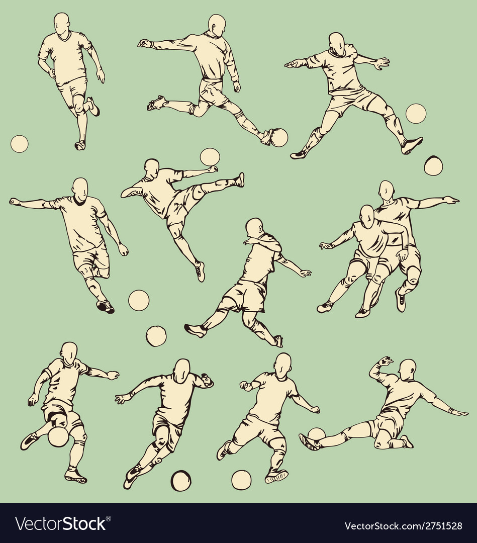 Soccer Sport Action Collection vector image