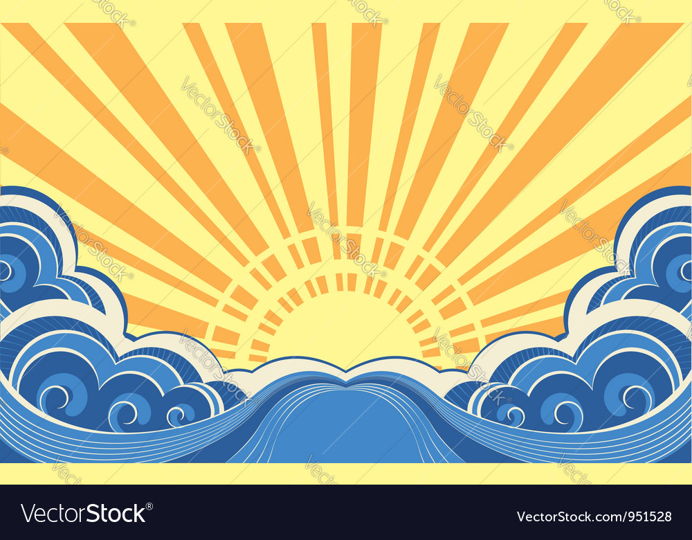 SunscapeAbstract nature image vector image