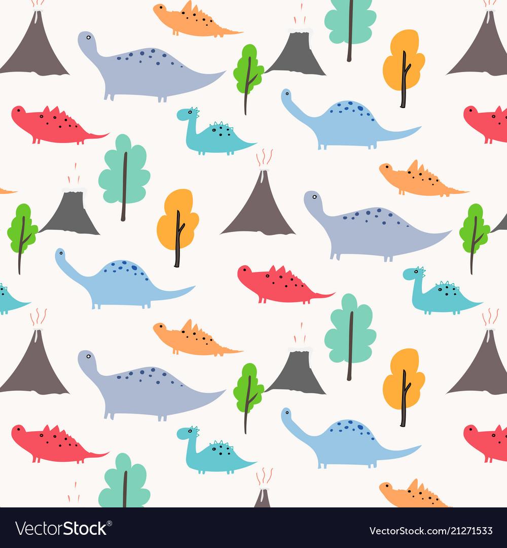 Dinosaur pattern background