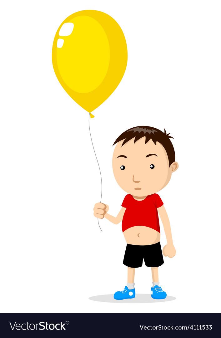 Kid Holding A Balloon