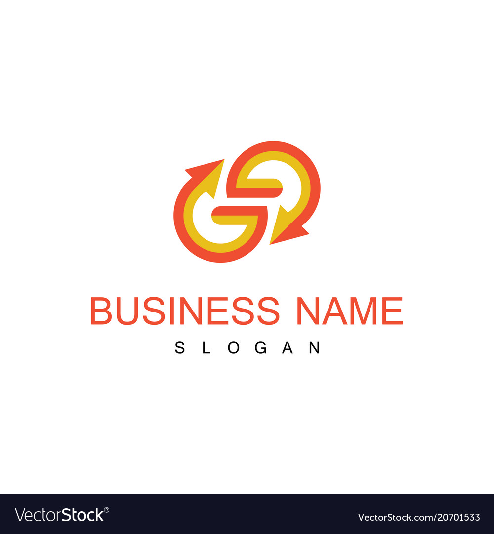 Letter g arrow business logo