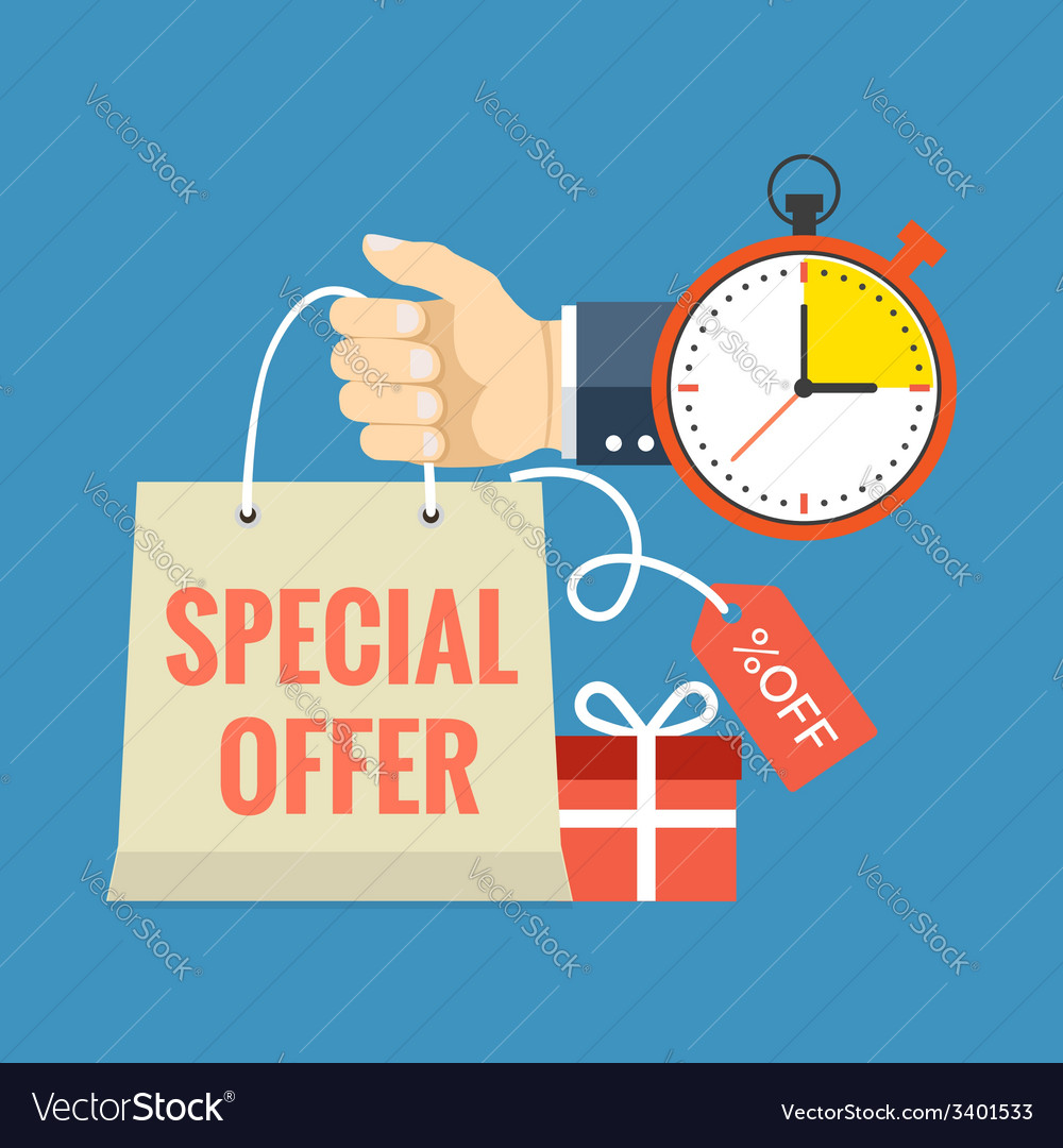 704b8ead9 Limited time special offer concept Flat design Vector Image