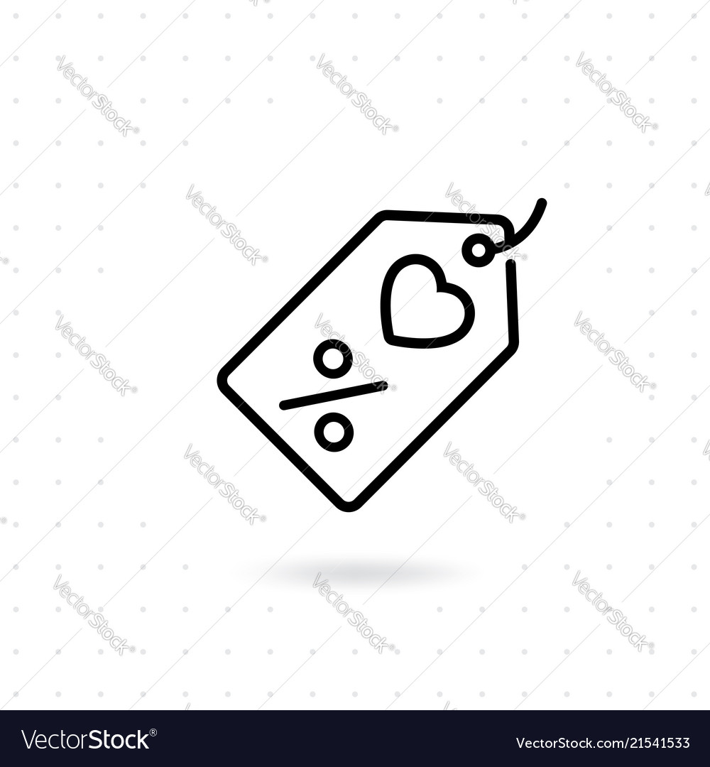 Price Tag Icon Royalty Free Vector Image Vectorstock
