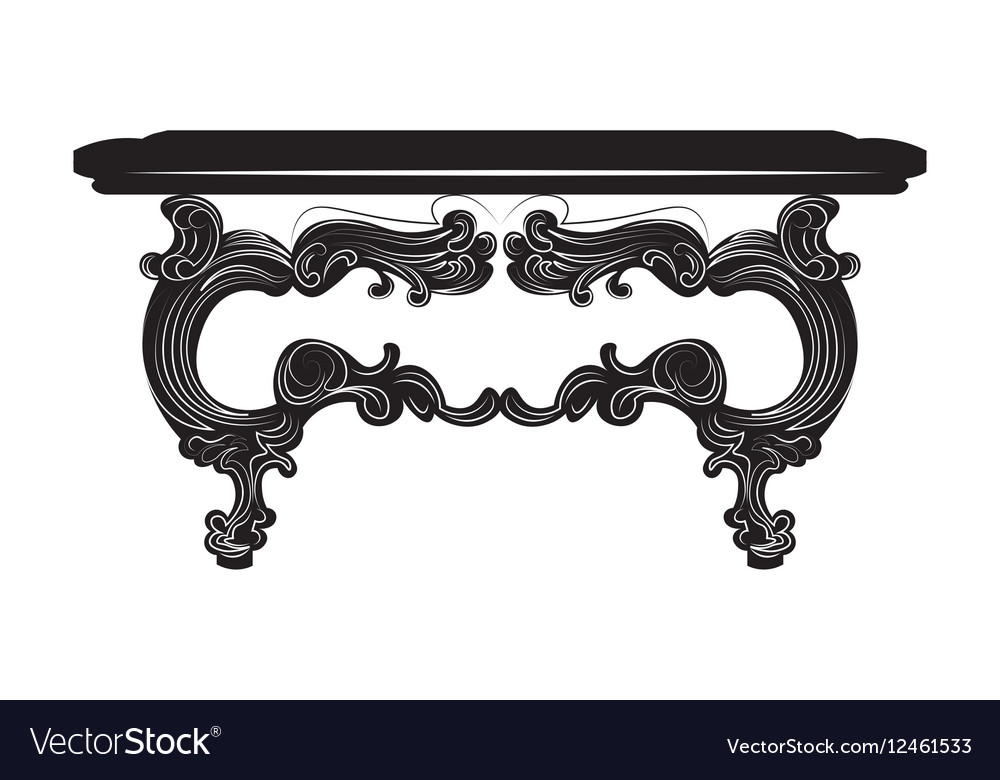 Vintage Baroque Table vector image