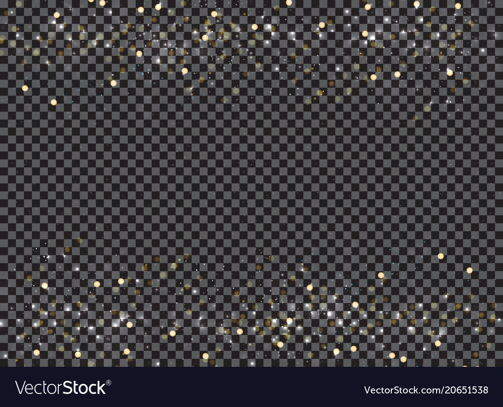 Abstract bokeh and gold glitter header footers on