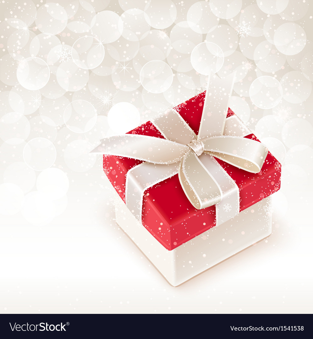 Christmas box vector image