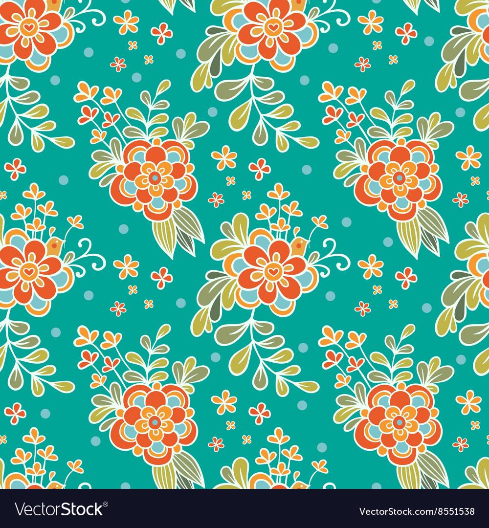 Floral seamless pattern Flower Garden