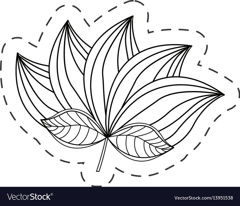 Lotus flower decoration cut line
