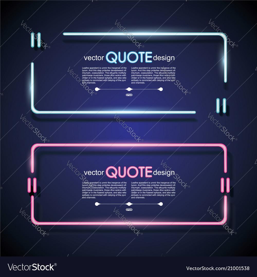 Set Neon Quote Frames Lighting Sign