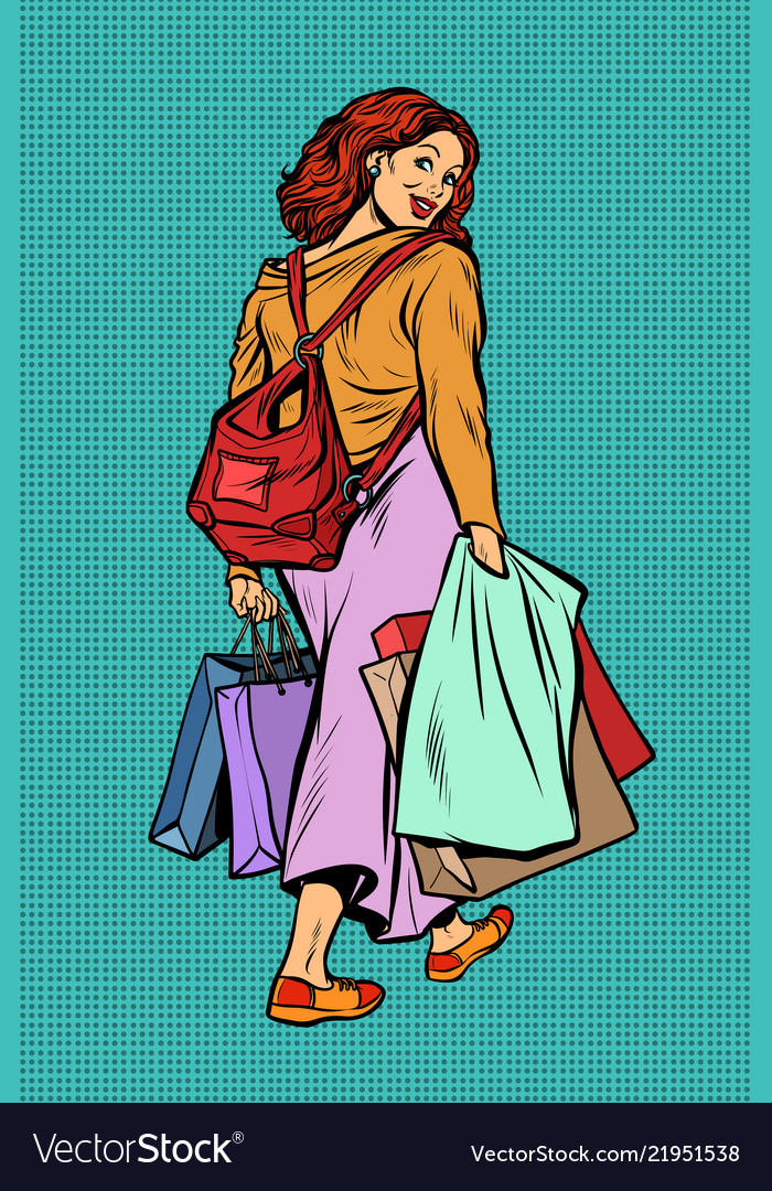 Woman goes shopping