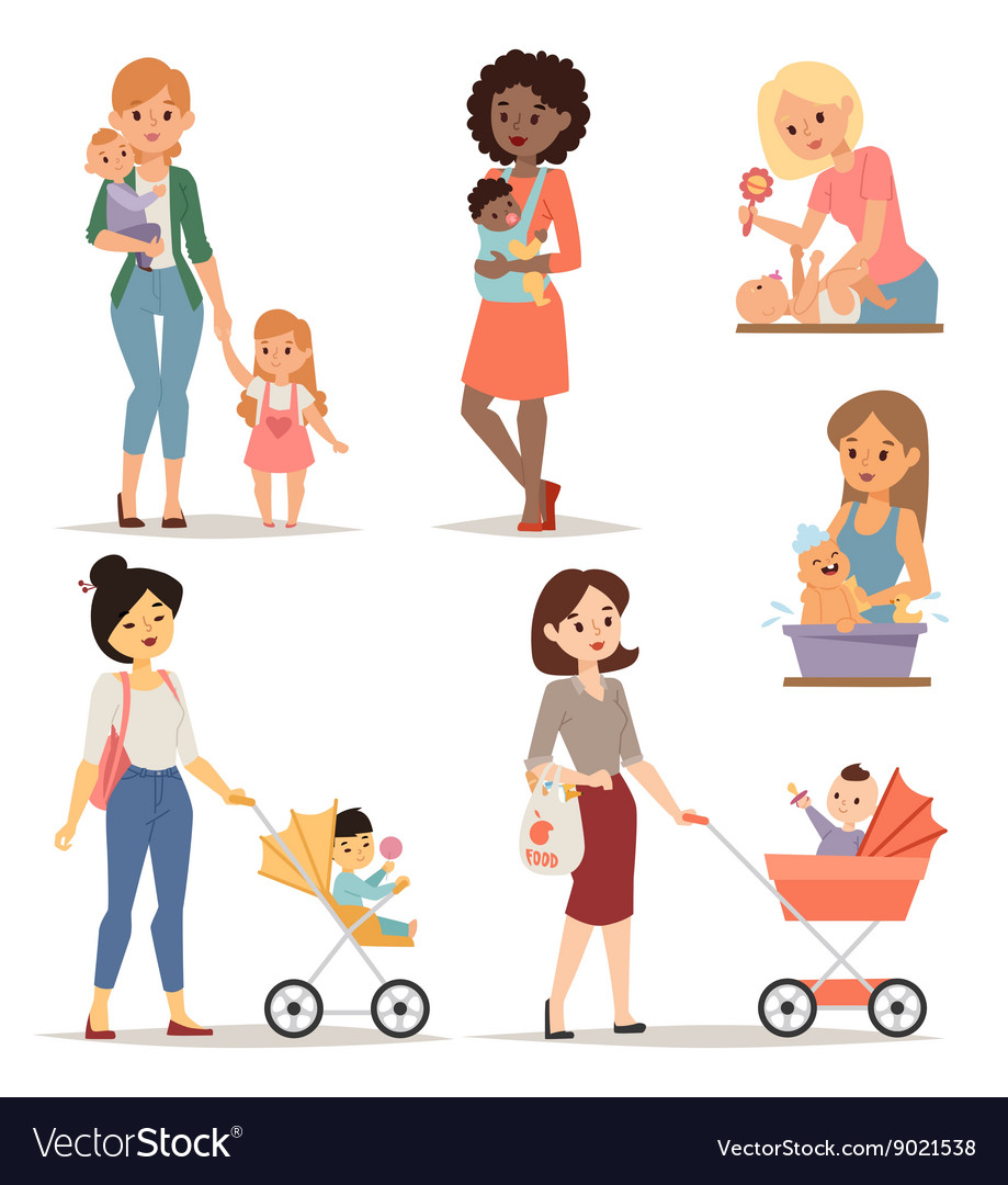 Young mother vector image