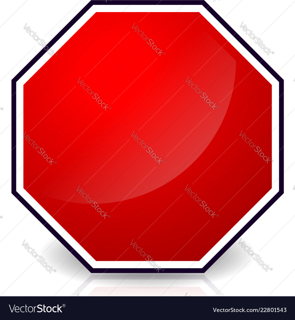 Stop sign high resolution. Blank