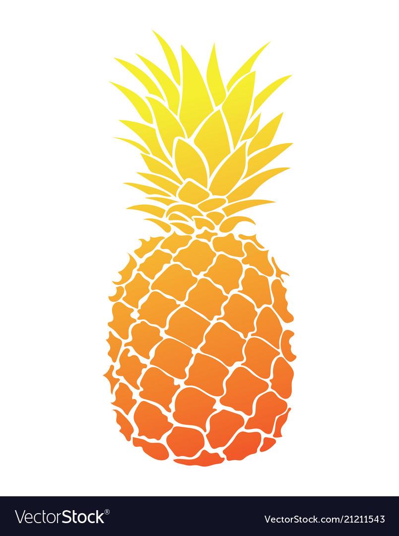 Cartoon pineapple colorful print fresh