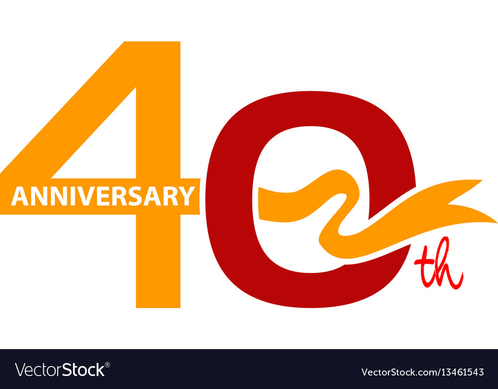 Forty years gift box ribbon anniversary