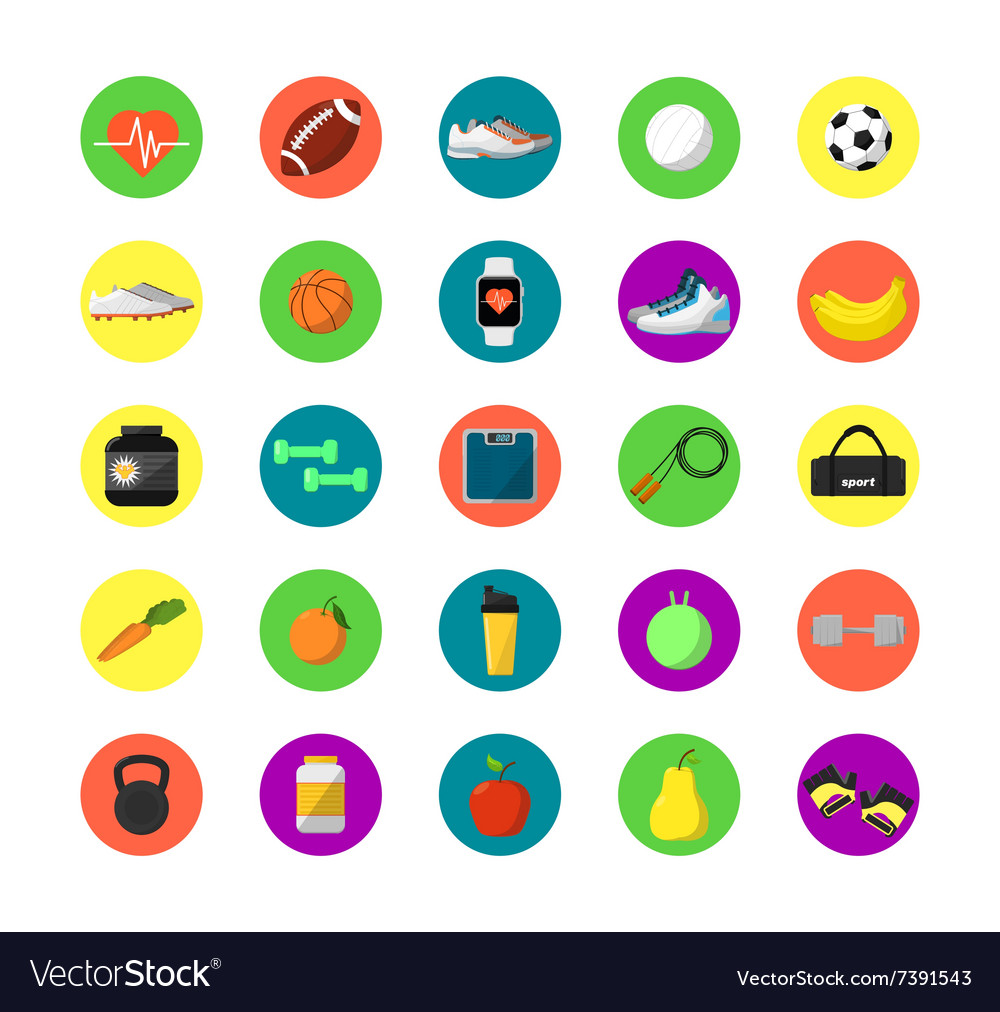 Gym isolated equipment icon vector image