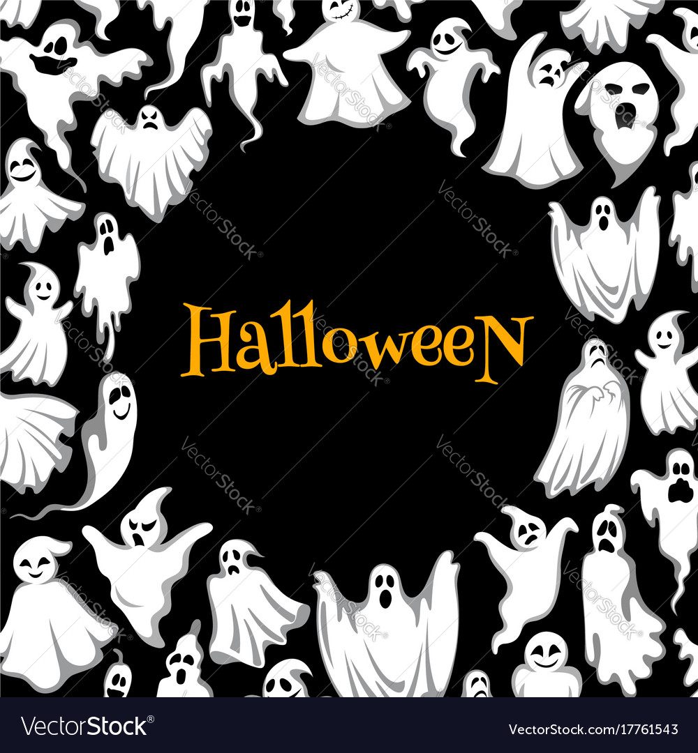 Halloween horror ghost poster for holiday design