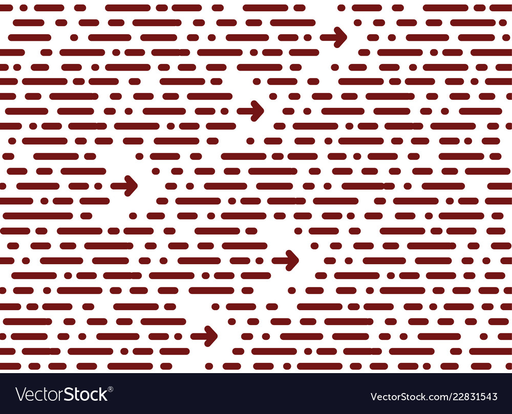 Seamless chaotic pattern horizontal stripe and vector