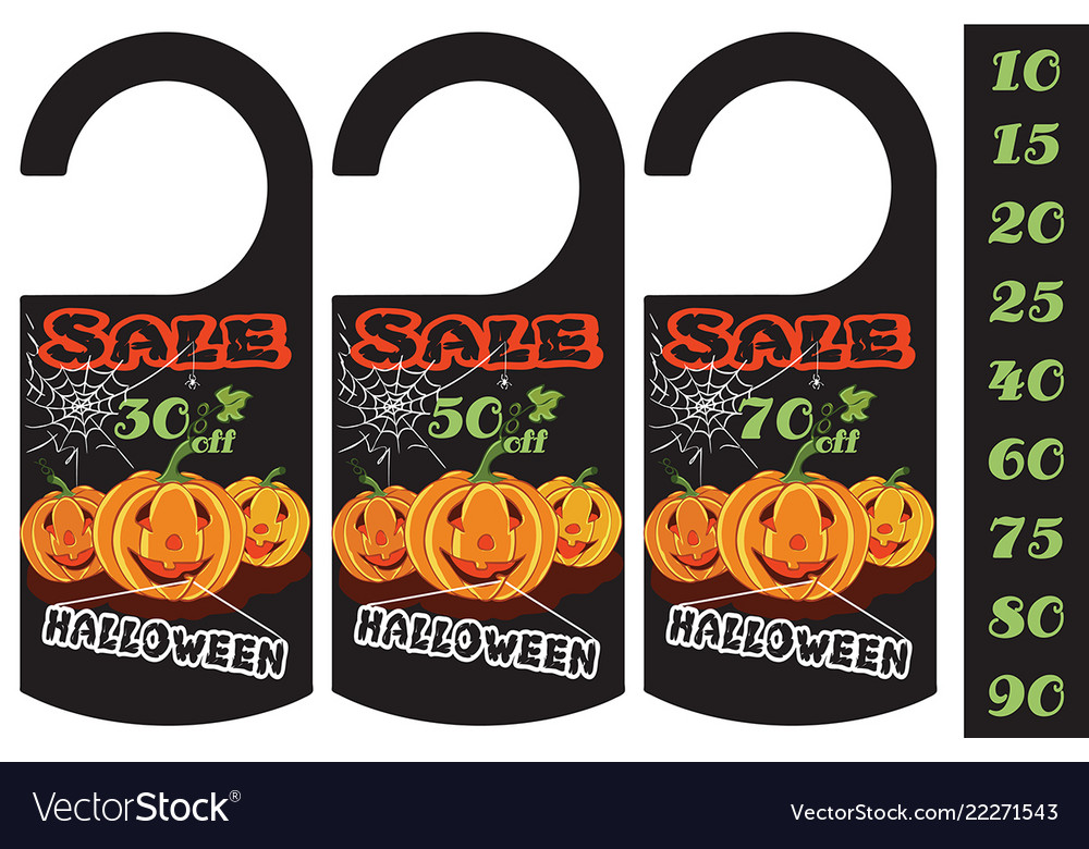 Set halloween sale tag can use for your