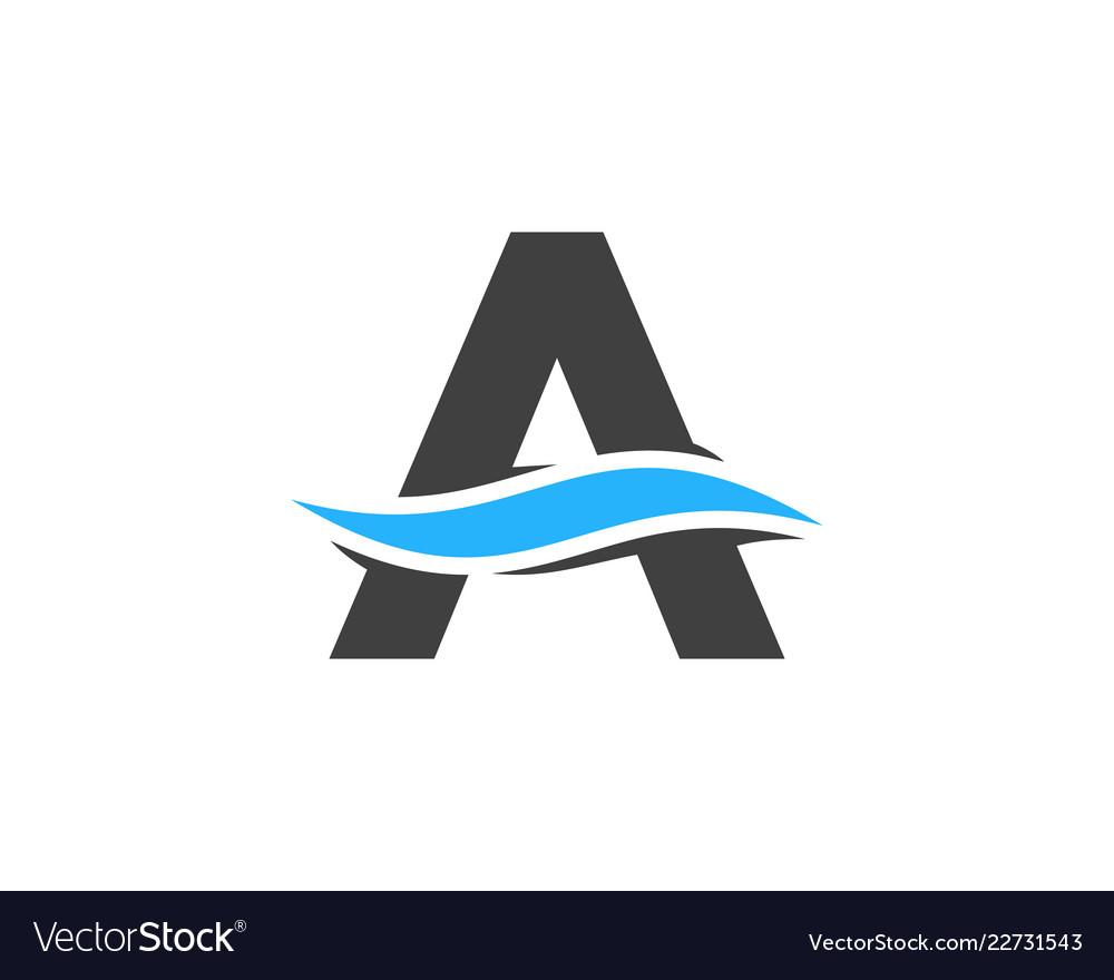 Wave letter a logo icon design