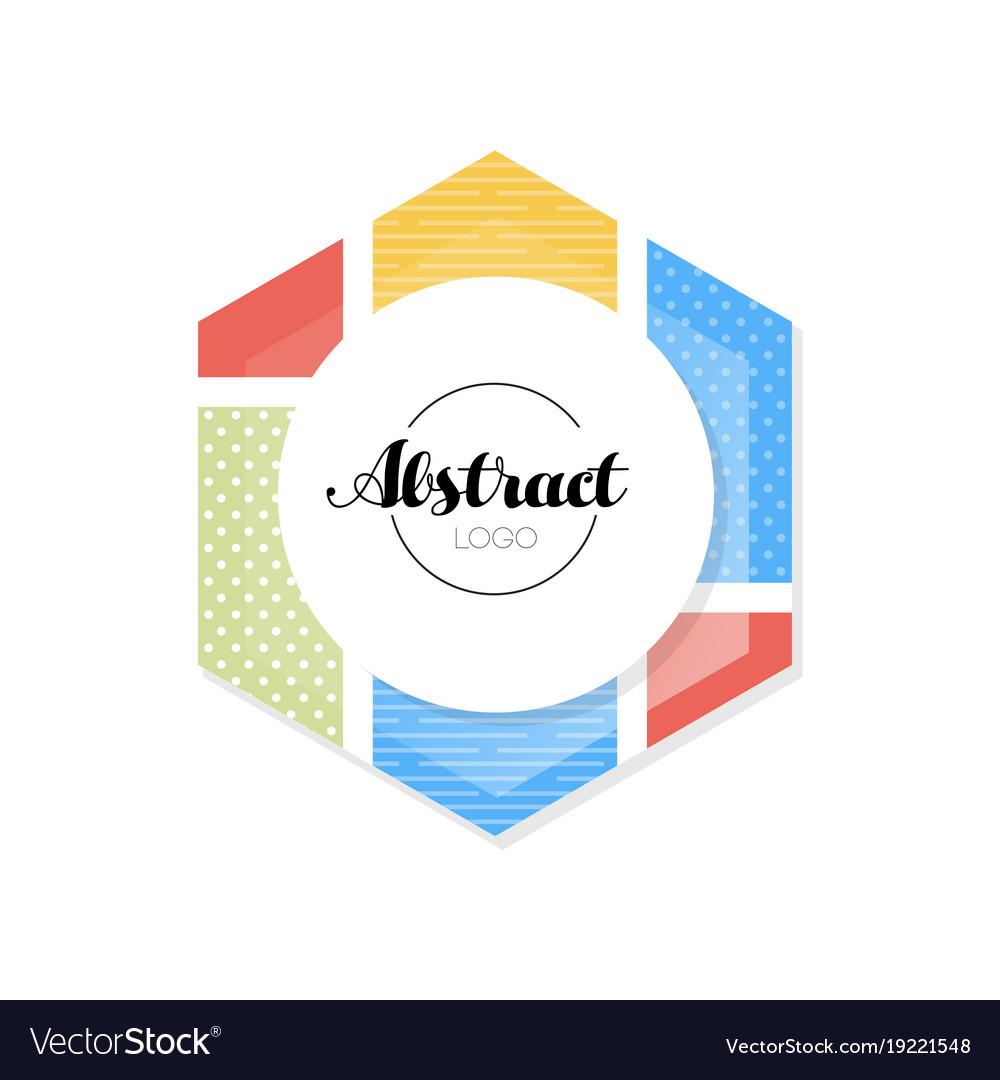 Abctract Geometric Logo Template Minimalist Vector Image