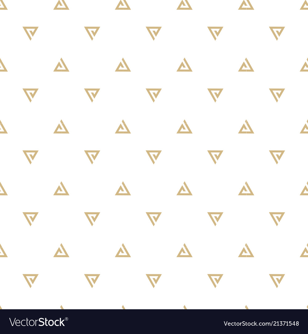 Abstract gold triangle white pattern image