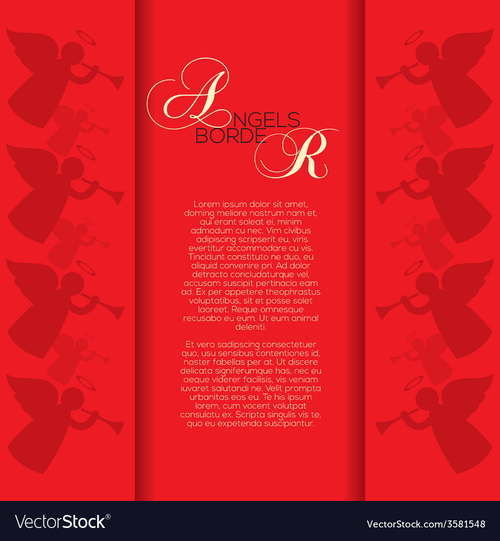 Angles Border Background vector image