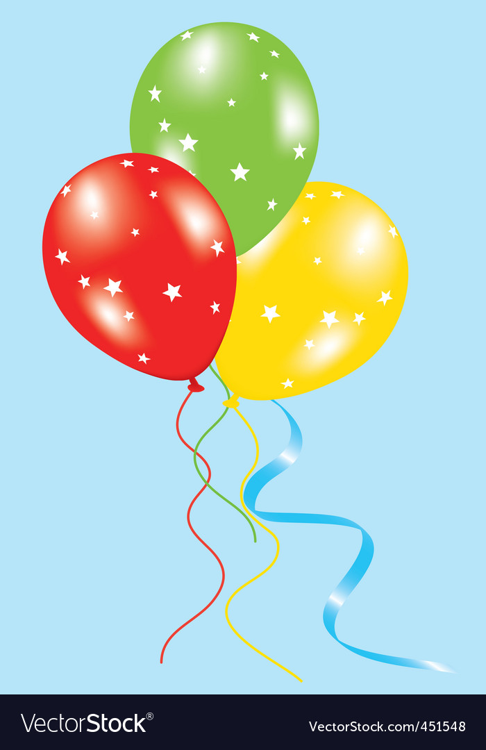 Balloons with stars vector image