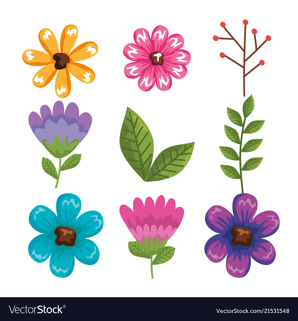 Beautiful flowers and leafs decoration royalty free vector beautiful flowers and leafs decoration vector image izmirmasajfo