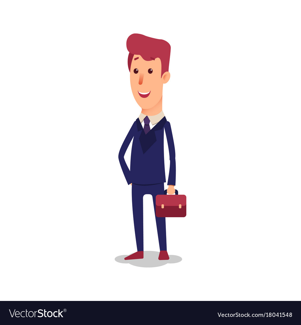 Business man character cartoon successful